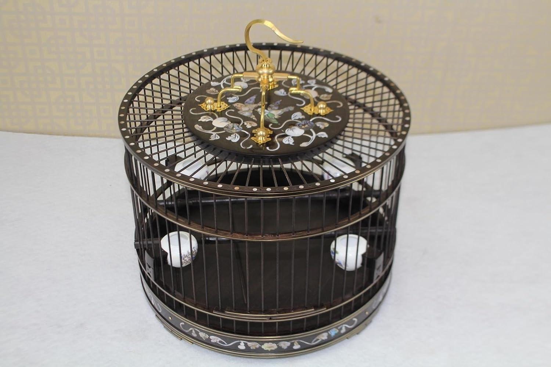 Pet Online Legno di palissandro birdcage Mosaico di legno-visualizzazione in una birdcage ,29,522cm, nero