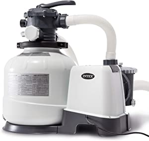 """Intex Krystal Clear Sand filter Pump for Above Ground Pools, 14"""", 110-120V with Gfci"""
