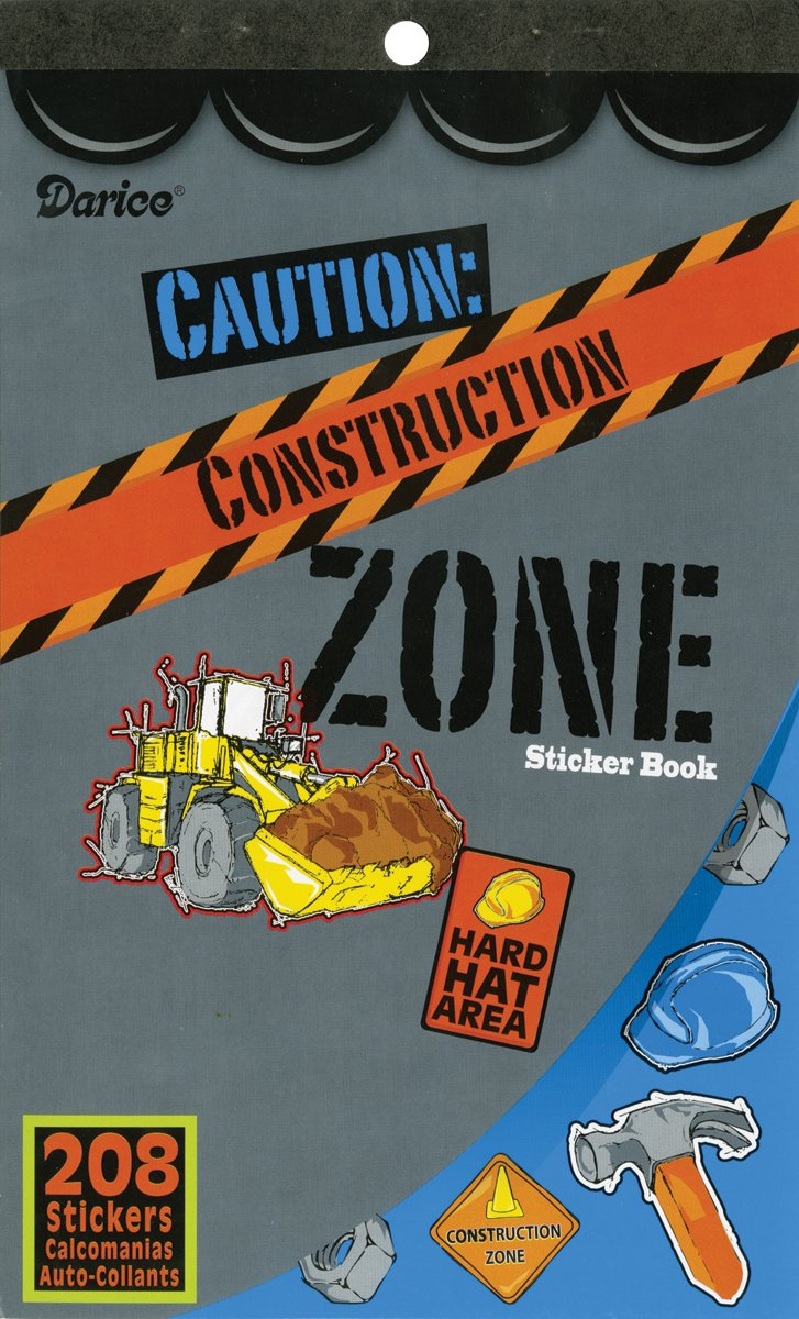 208 Stickers 106-2595 Darice Construction Zone Sticker Book