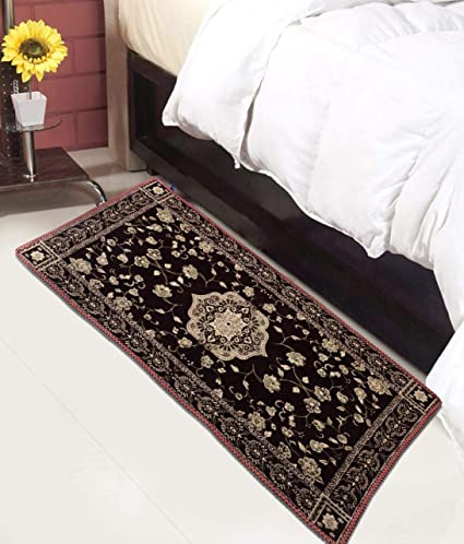 Magnetic Shadow Chenille Bedside Runner Rugs for Living Room Bedroom Drawing Room