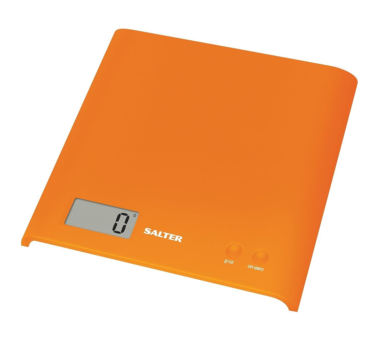 Salter 1066 OGDR Bßscula de Cocina Digital, lÝnea ARC, Dise±o Compacto, 3 Kg, Orange, Cromo, Naranja: Amazon.es: Hogar