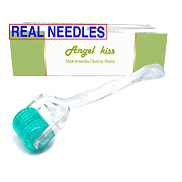 Amazon.com: Derma Roller - 192 agujas reales de 0.012 in ...