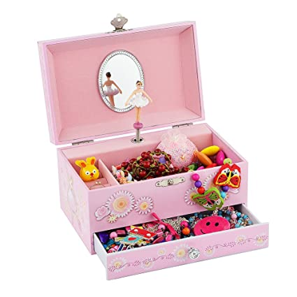Amazoncom Ballerina Music Jewelry Box with Melody is Swan Lake