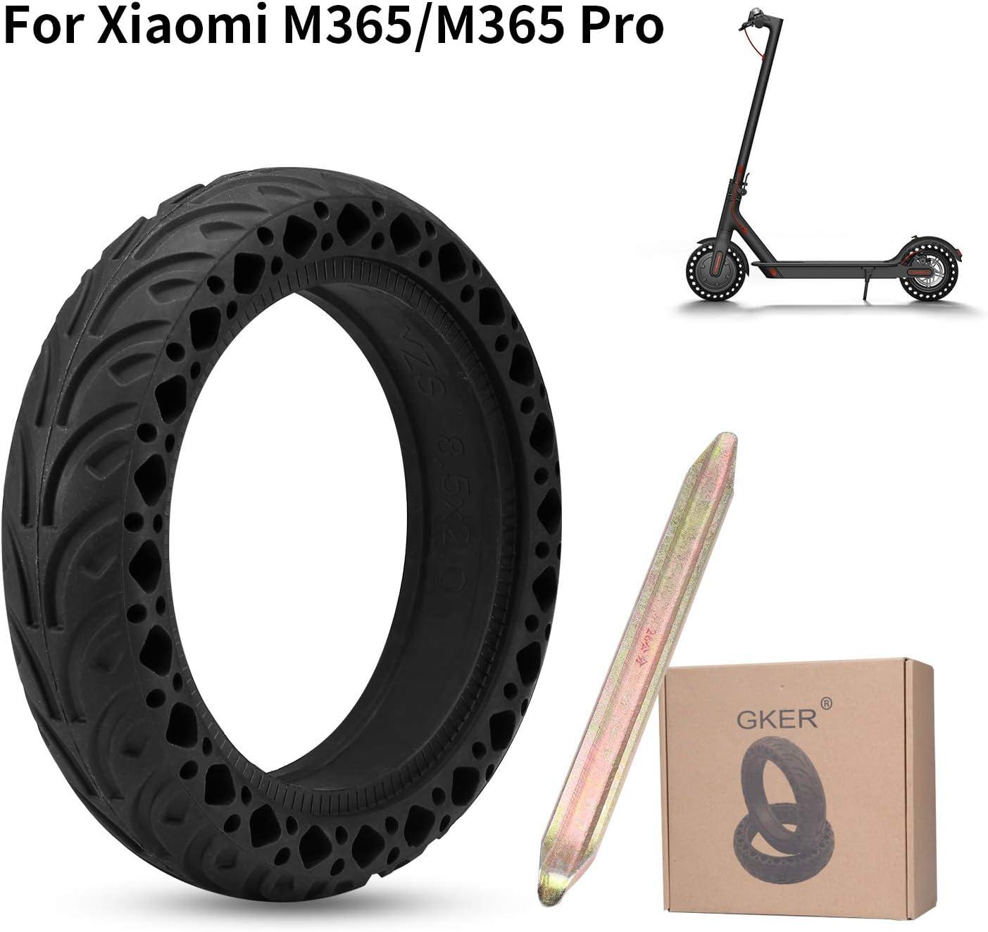 1.8mm Pneu Anti-d/érapant /à Absorption de Chocs de Type nid dabeille Convient Aux Pneus Avant//Arri/ère Millet M365 Accessoires GKER Pneu Plein Compatible avec Xiaomi M365 Tube Int/érieur 81 //2x2