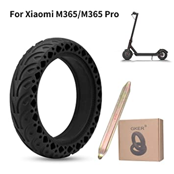 GKER Perfectamente Compatible Xiaomi M365, Neumáticos Antideslizantes Duraderos con El último Diseño De Nido De Abeja,Adecuado para Neumáticos ...