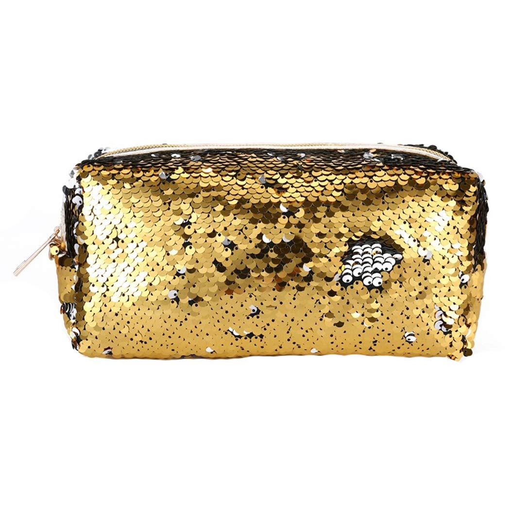 FORLADYハンドジッパー化粧品バッグファッションスパンコールバッグ学生スパンコールペンシルケースレディースコインケース   B07KG15FT3