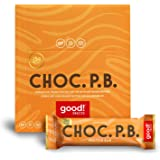 good! Snacks Vegan Chocolate Peanut Butter Protein Bar | Gluten-Free, Plant Based, Low Sugar, Kosher, Soy Free, Non GMO | 15g