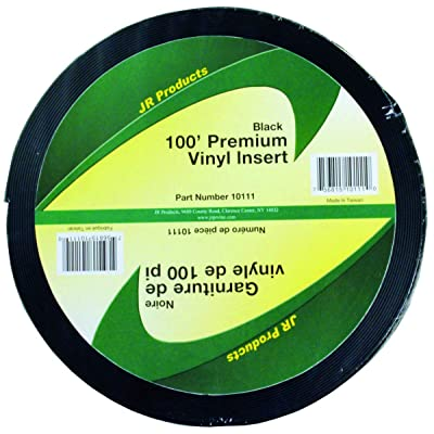 "JR Products 10111 Premium Vinyl Insert - Black, 1"" x 100': Automotive"