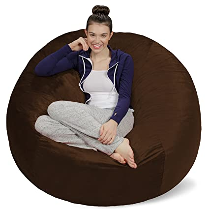Attirant Sofa Sack   Bean Bags Bean Bag Chair, 5 Feet, Chocolate