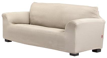 Belmarti Toronto - Funda sofa elástica Patternfit, 4 Plazas, color Lino