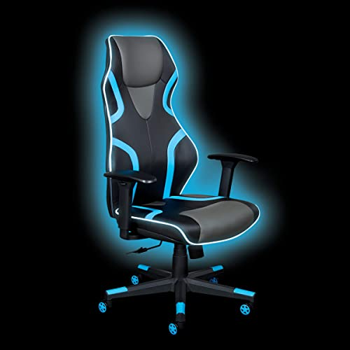 OSP Home Furnishings Rogue High-Back LED Lit Gaming Chair