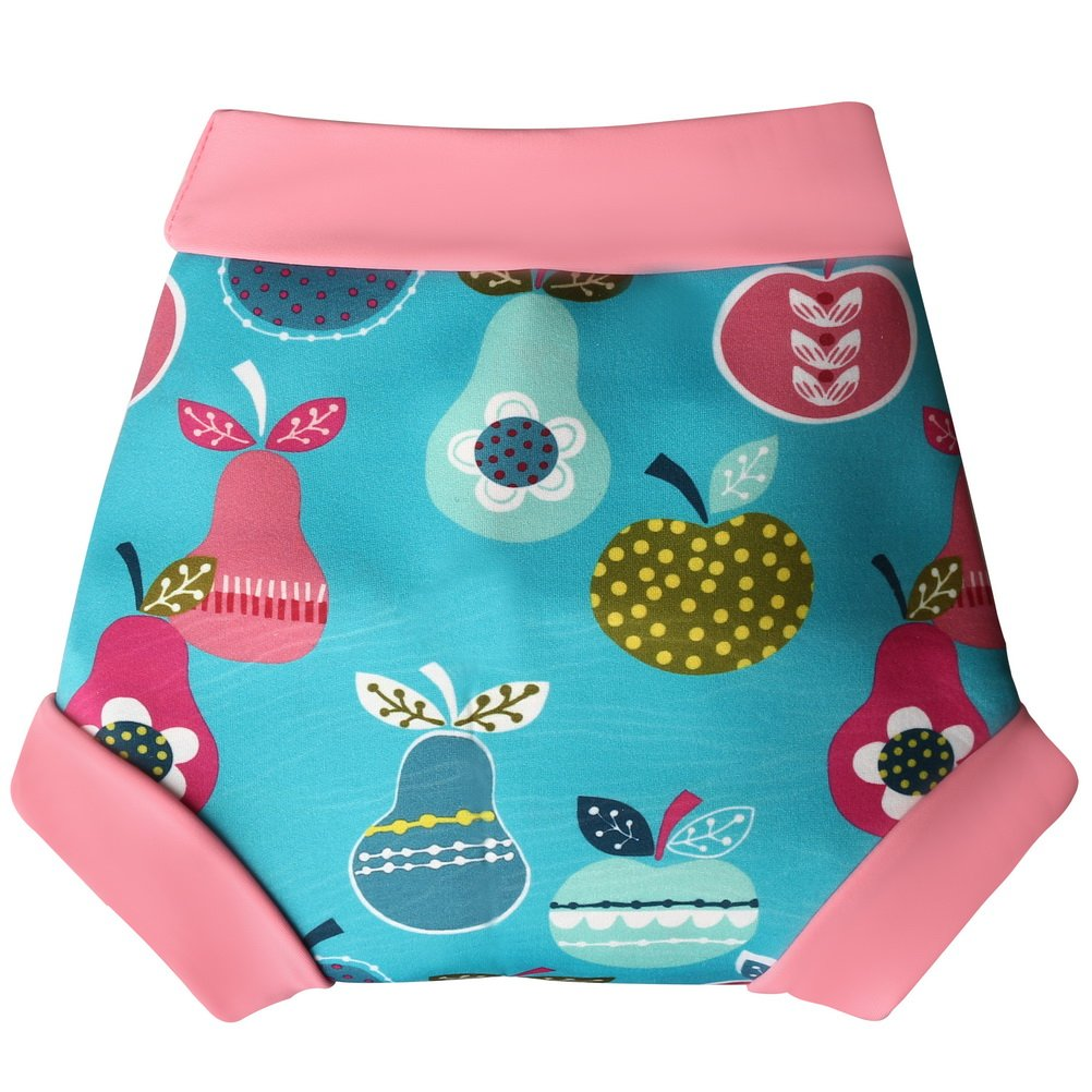 kuou Reusable Baby Swim Pants, Adjustable Swim Nappy Cover for 12-18 Months Baby, Waterproof Baby Nappy Swimsuit