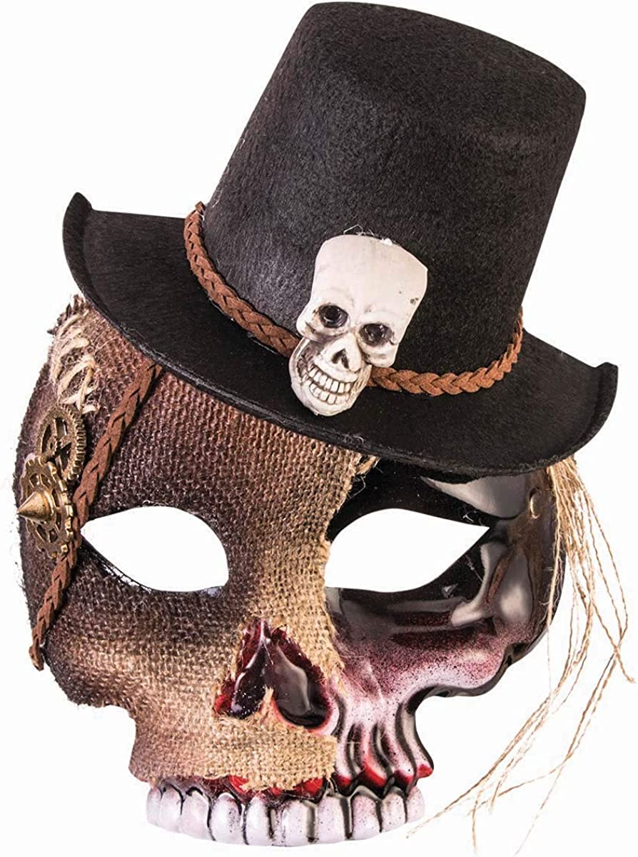 Forum Novelties Voodoo Skull Mask with Hat