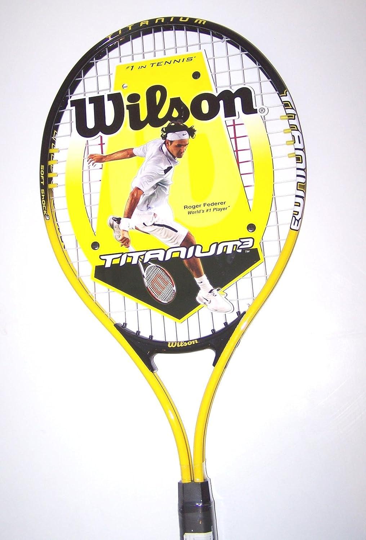 Amazon.com: Wilson Titanium 3 Federer 27 – Raqueta de tenis ...