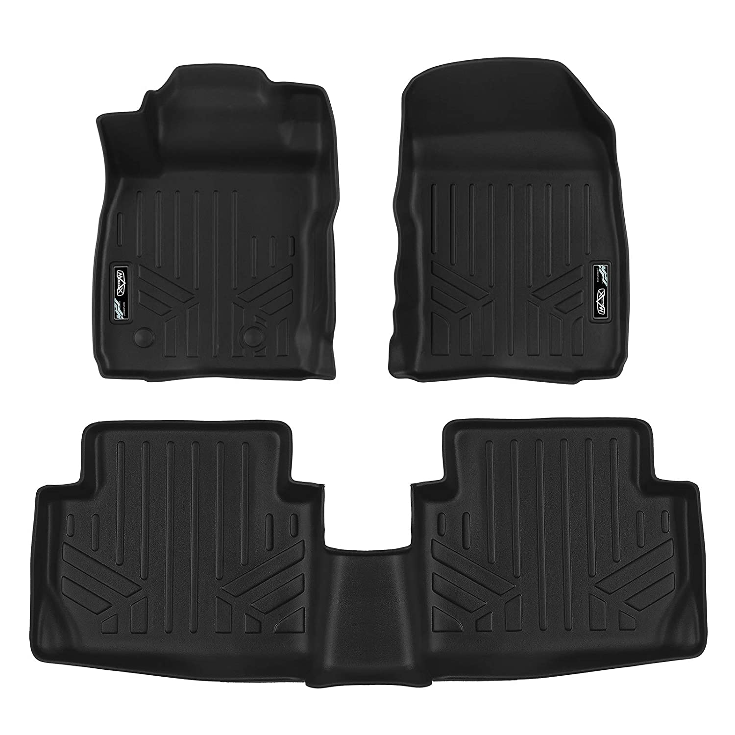 US Model Only MAX LINER A0360//B0360 Custom Fit Floor Mats 2 Row Liner Set Black for 2018-2019 Ford EcoSport