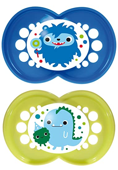 Amazon.com: MAM Monsters ortodoncia chupete, niño, 6 + Meses ...