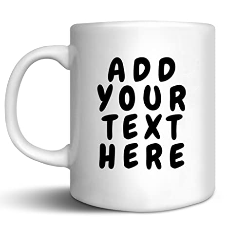 8a3a2ef3d6c1d Custom Coffee Mugs - ADD YOUR NAME TEXT LETTERS - Personalized Ceramic Cups  - Monogram Novelty Mug