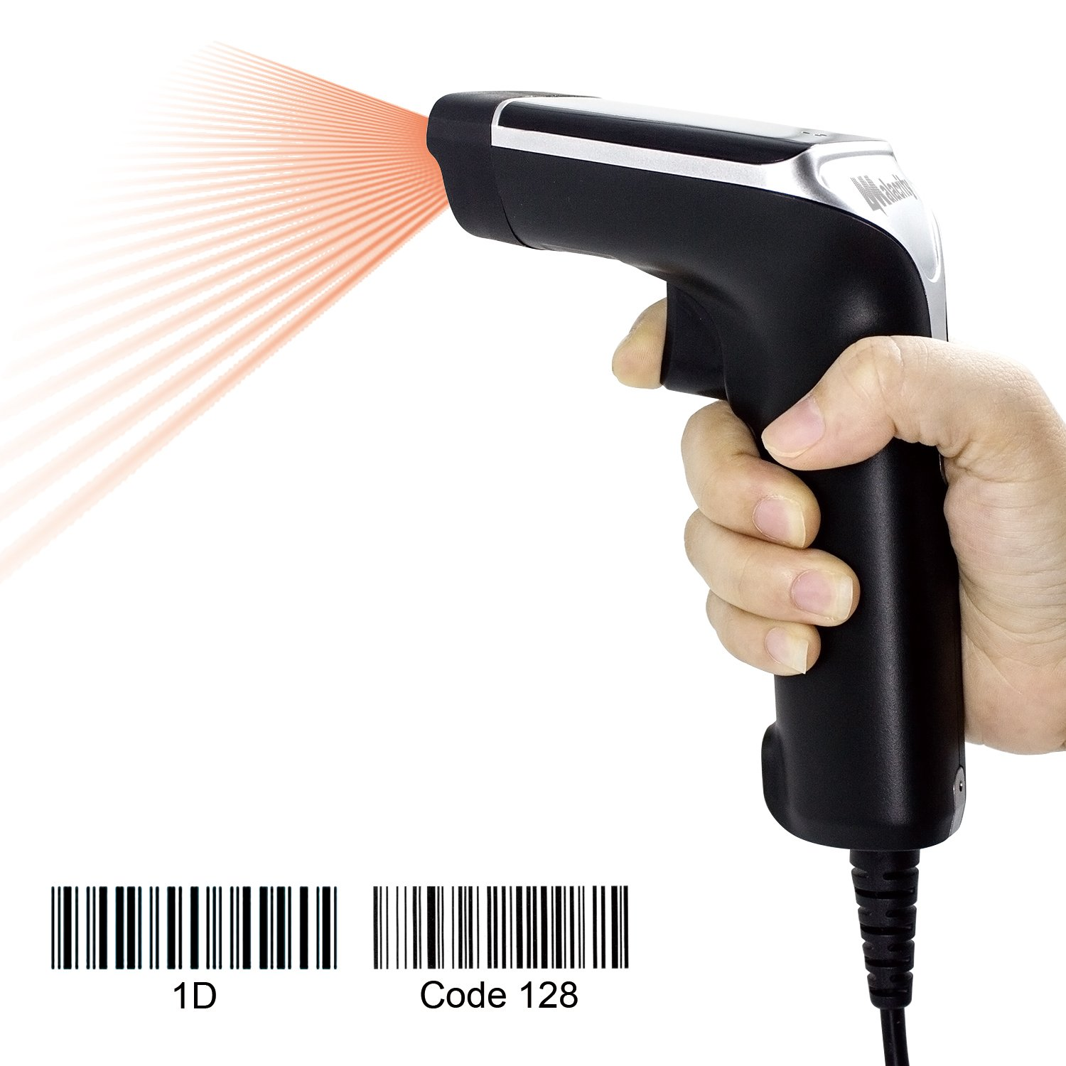Alacrity Wired Laser Barcode Scanner USB Cable Handheld Bar Code Reader Scanners Black