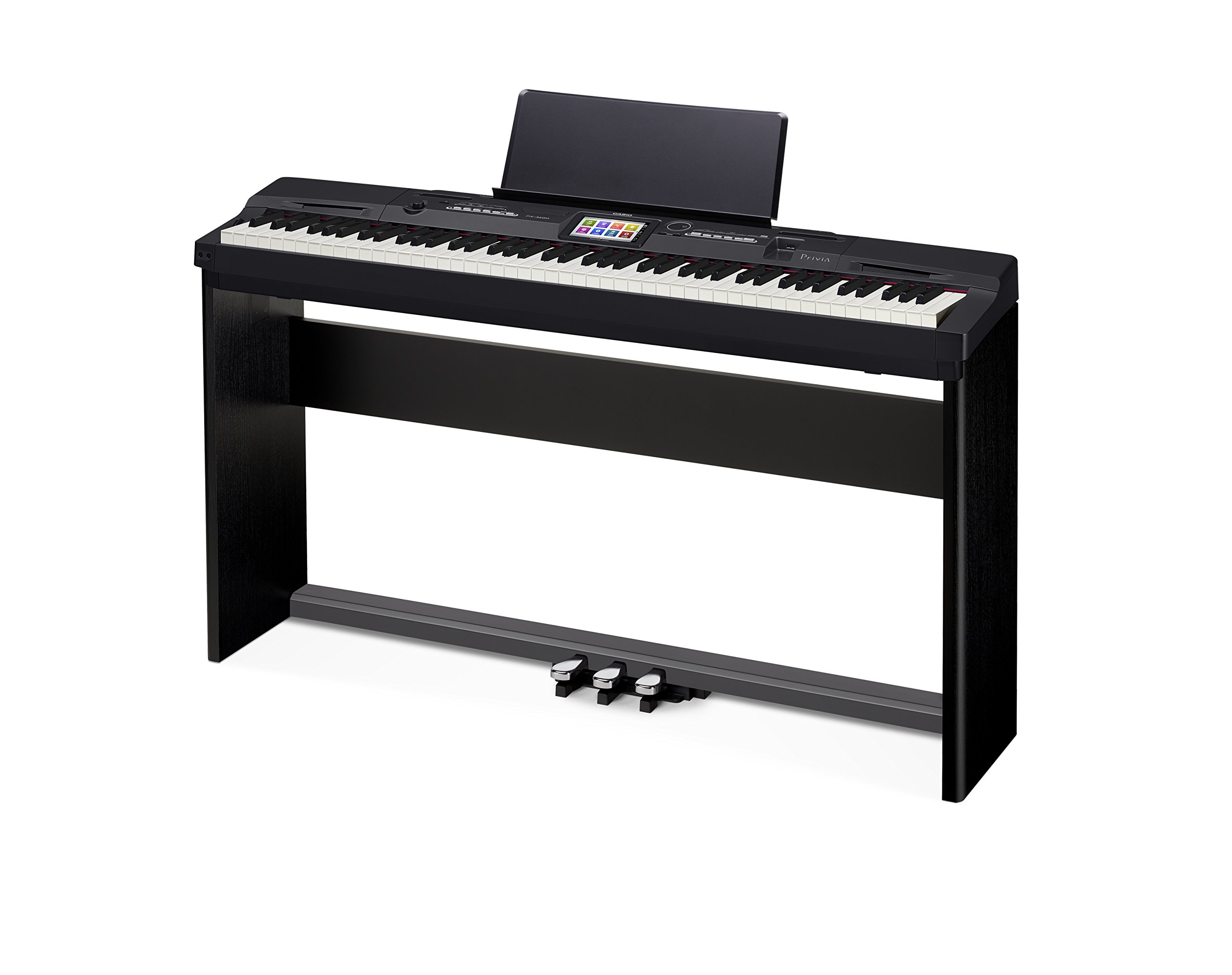 Casio Privia PX-360 Digital Piano - Black Bundle with CS-67 Stand, SP-33 Pedal, Furniture Bench, Instructional Book, Austin Bazaar Instructional DVD, and Polishing Cloth by Casio (Image #6)
