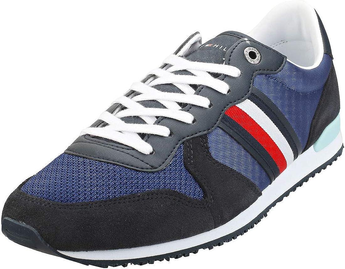 Tommy Hilfiger Iconic Material Mix Runner, Zapatillas para Hombre: Amazon.es: Zapatos y complementos