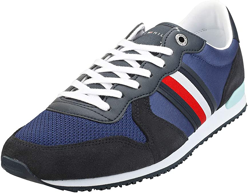 Tommy Hilfiger Iconic Material Mix Runner, Zapatillas para Hombre: Amazon.es: Zapatos y complementos