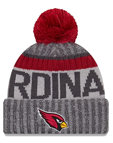 Arizona Cardinals Graphite New Era 2017 On-Field Sport Knit Beanie Hat   Cap dcbdfa84c