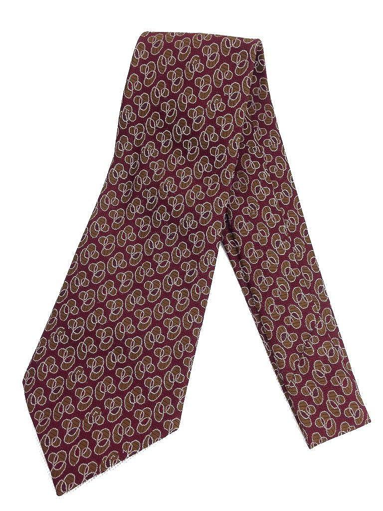 1920s Bow Ties | Gatsby Tie,  Art Deco Tie Abstract Burgundy Vintage Necktie Jacquard Weave Wide Kipper Tie Maroon $20.95 AT vintagedancer.com