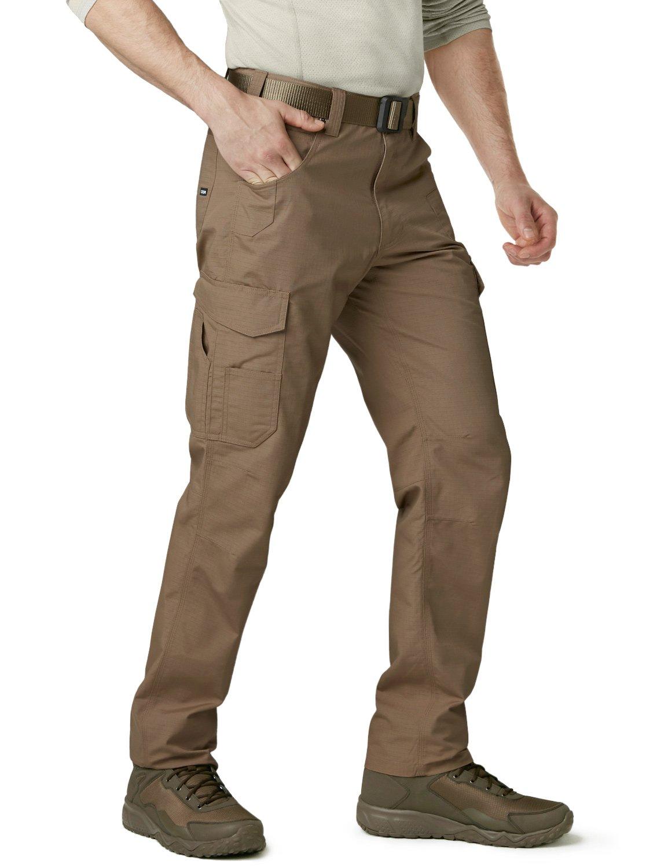 CQR CQ-TWP302-CYT_32W/30L Men's Rip-Stop Tactical Work Utility Operator Pants EDC TWP302