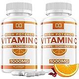 Vitamin C 1000mg Capsules w/ Zinc Echinacea Supplement Rose Hips for Adults Kids Immune Support - Vit C 500mg Pills…