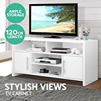 Artiss TV Cabinet Wooden Entertainment Unit TV Stand Bench White