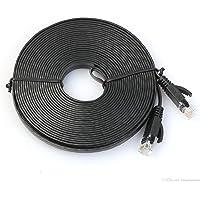 Modavela Cable Red 30 Metros Categoría Cat6 Utp Rj45 Ethernet Plano Categoria 6 Negro