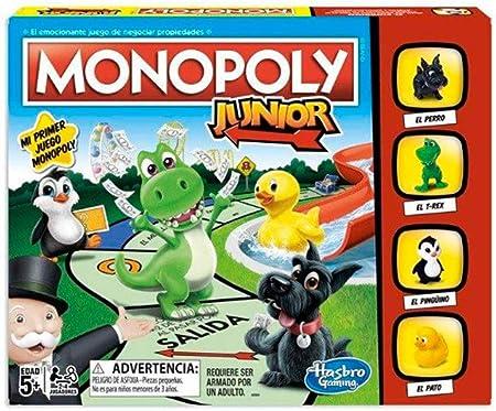 Monopoly - junior (hasbro a6984793),El juego es como el monopoly clásico pero más sencillo para niño