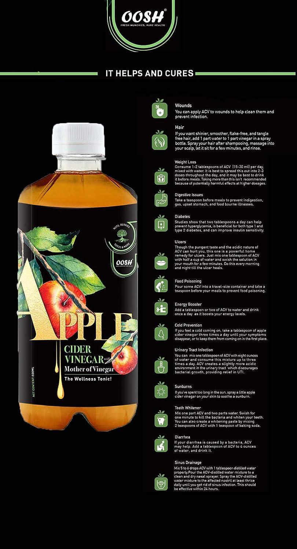 Apple Cider Vinegar With Mother 500 Ml (16.90 OZ): Amazon.es ...