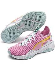PUMA Kids DEFY PS Sneaker, Pale Pink White-fair Aqua