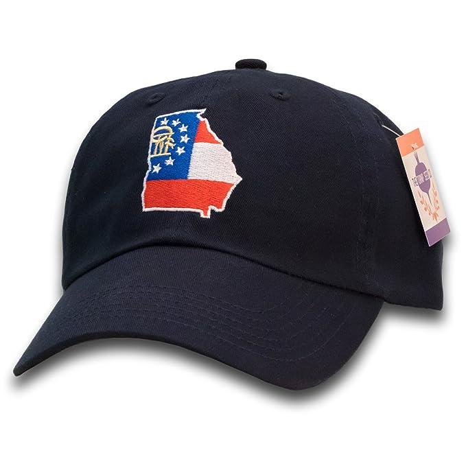 Image Unavailable. Image not available for. Color  Georgia State Flag Baseball  Cap ed1e80db88e
