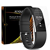 [6 PCS] Fitbit Charge 2 Screen Protector, Peyou® [Full Coverage] HD Crystal Invisible Premium Film Screen Protector For Fitbit Charge 2 2016 Version [Lifetime Replacements]