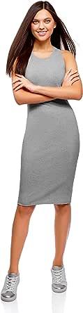 oodji Ultra Mujer Vestido de Algodón Ajustado