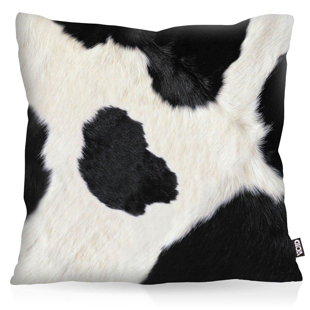 Piel de la Vaca Cojín con dibujo funda