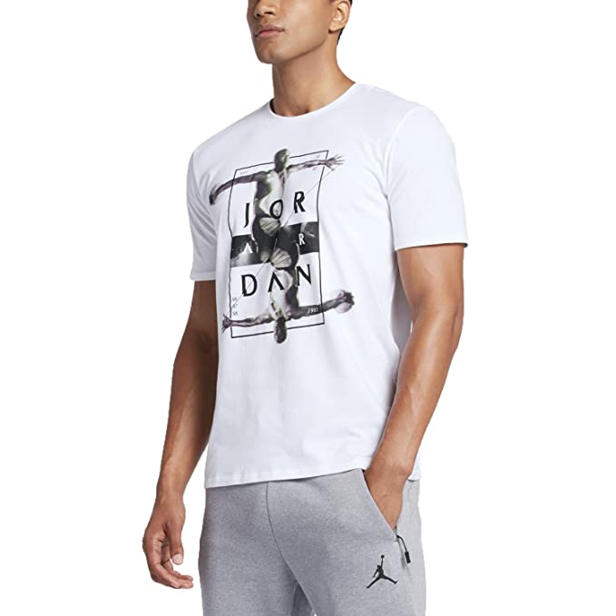 Jordan Dynamic Men's T-Shirts White/Black