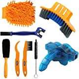 Anndason 8 Pieces Precision Bicycle Cleaning Brush Tool Including Bike Chain Scrubber, Suitable for Mountain, Road, City…