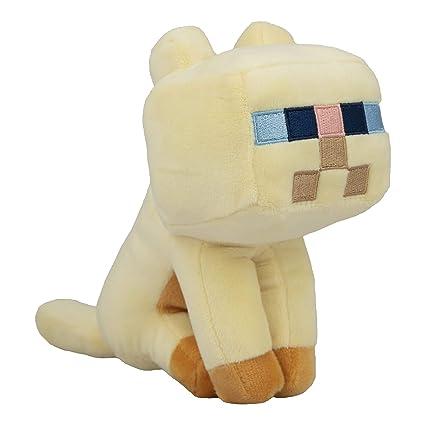 JINX Minecraft Happy Explorer Persian Cat Plush Stuffed Toy, Tan, 5 5