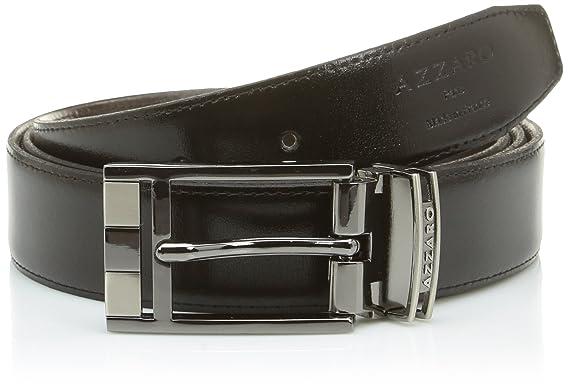 065aa1cebafa Azzaro ZCOF642 - Ceinture - Homme - Noir (Noir Marron) - FR  110 cm ...