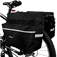 Bicycle Bag Multifunction Tail Rear Bag Saddle Cycling Basket Rack ShoulderLOKV