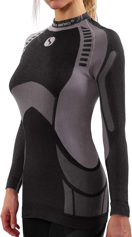 Sesto Senso Maillot de Corps Coton 95/% Longues Manches sous-V/êtements Haut Thermique Homme