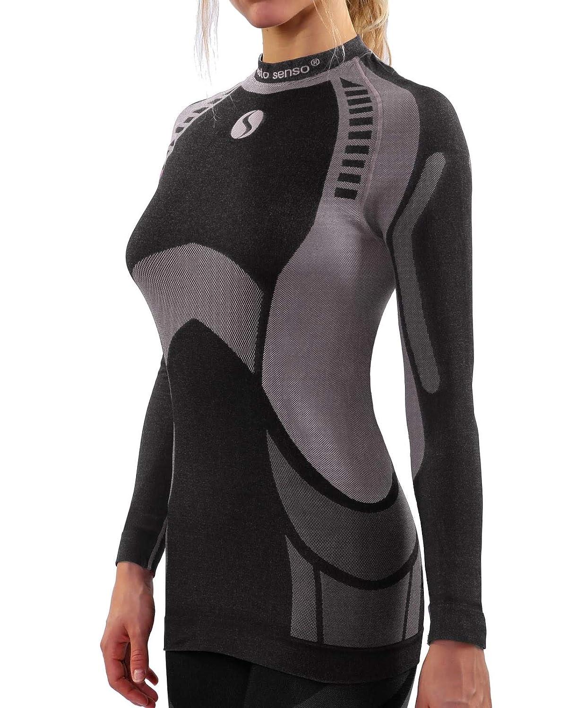 Sesto Senso® Damen Funktionsunterwäsche Langarmes Unterhemd Funktionsshirt Skibekleidung Sportbekleidung Fahrrad Motor - THERMOACTIVE