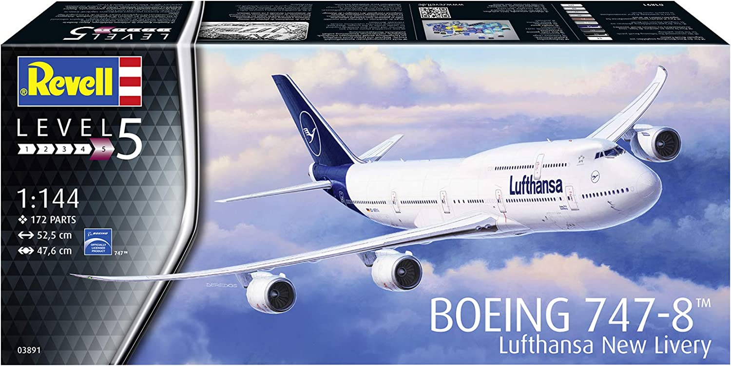 1:144 Plastic Scale Model Boeing 747-8 Lufthansa New Livery
