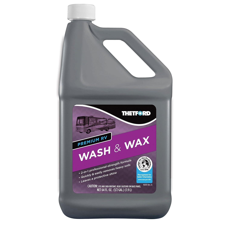 Thetford Premium RV Lavar y Cera, detergente y Cera para acople de/Barcos/Camiones/Coches - 64 oz 96014: Amazon.es: Coche y moto