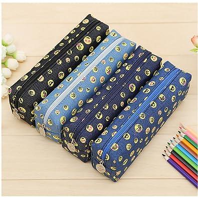 514188dd5ba4 Union Tesco 2 Pcs Emoji Pencil Case Random Color  Amazon.co.uk  Shoes   Bags