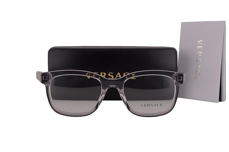 Versace VE3239 Eyeglasses 54-20-145 Transparent Gray w/Demo Clear Lens 593 VE 3239