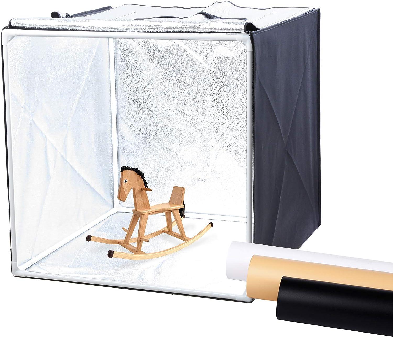 Finnhomy Professional Portable Photo Studio Photo Light Studio Photo Tent Light Box Table Top Photography Shooting Tent Box Lighting Kit, 24